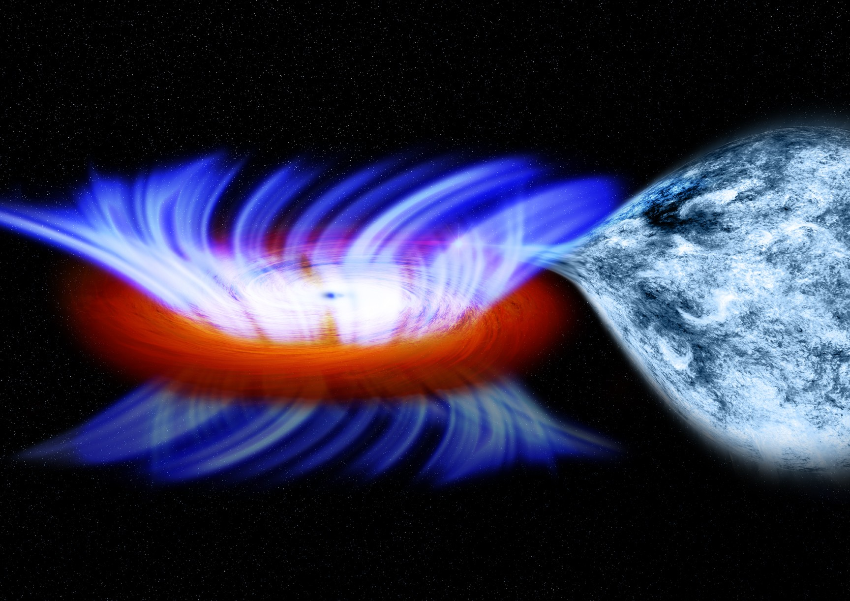 A binary system containing a stellar-mass black hole, located about 28,000 light years from Earth.